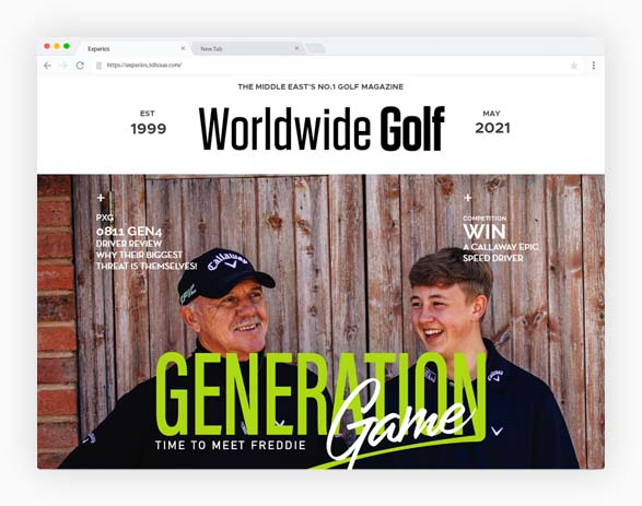 Worldwide Golf Sample