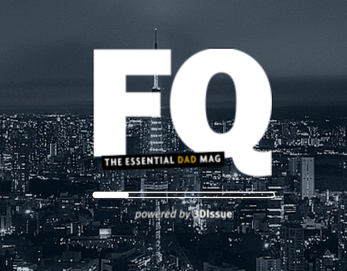 The FQ Mag logo appearing above the Flipbook loading bar