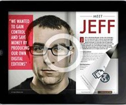 Create interactive digital magazine